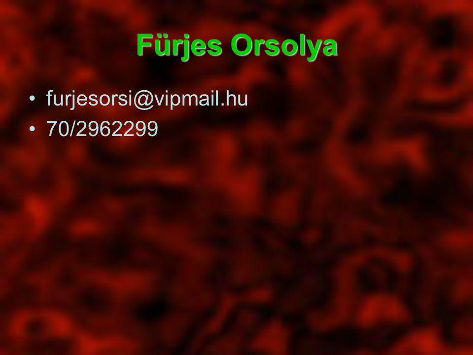Fürjes Orsolya furjesorsi@vipmail.hu 70/2962299