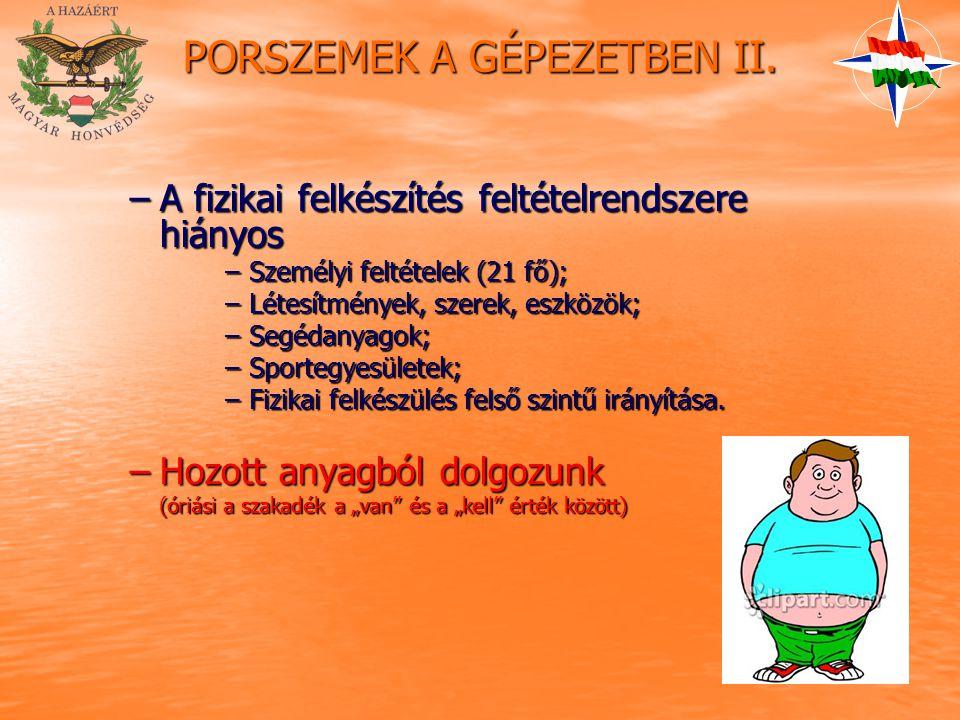 PORSZEMEK A GÉPEZETBEN II.