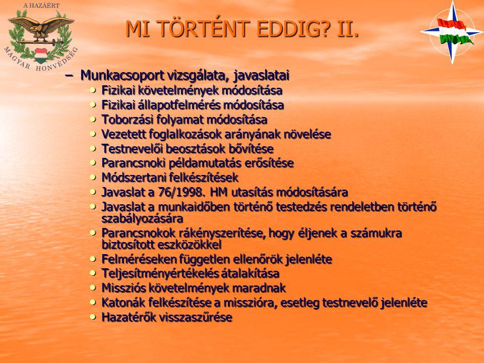 MI TÖRTÉNT EDDIG. II.