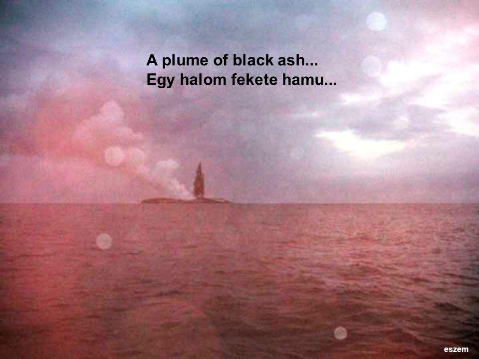 A plume of black ash... Egy halom fekete hamu... eszem