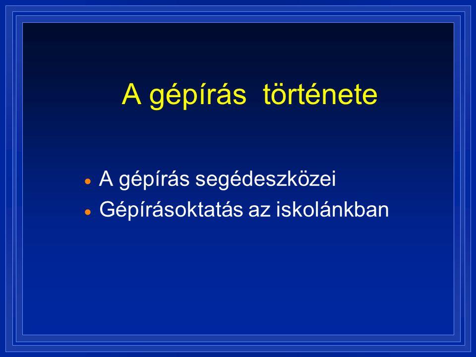 A szakma büszkeségei iskolánkban Belovics Szilvia Osztály: IV.C Év: 1996 Telj.: 330 o Géptípus: IBM PC (386) Program: Word 2.0