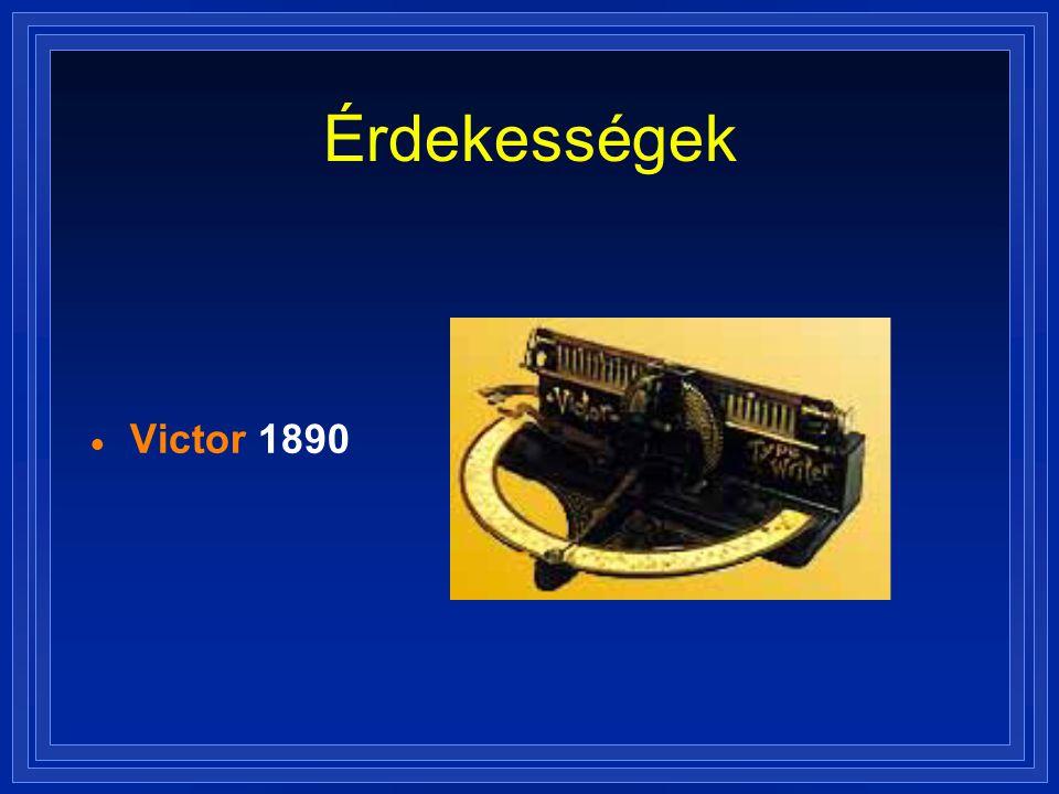 Érdekességek  Victor 1890