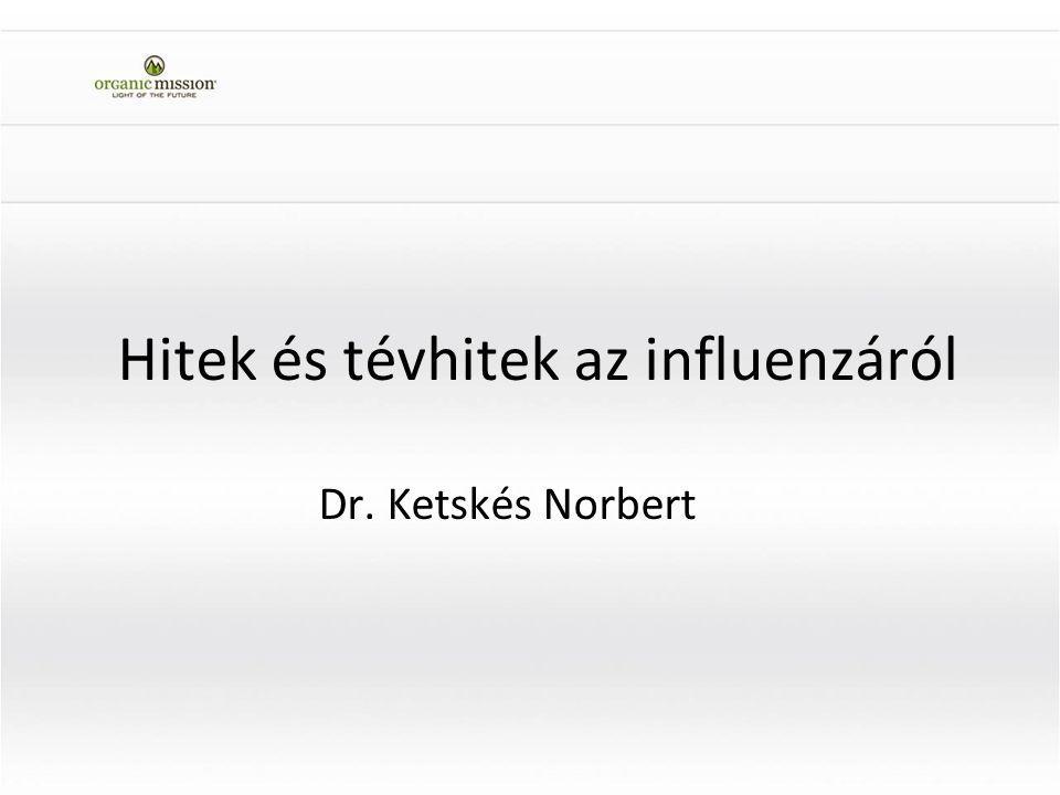 Hitek és tévhitek az influenzáról Dr. Ketskés Norbert