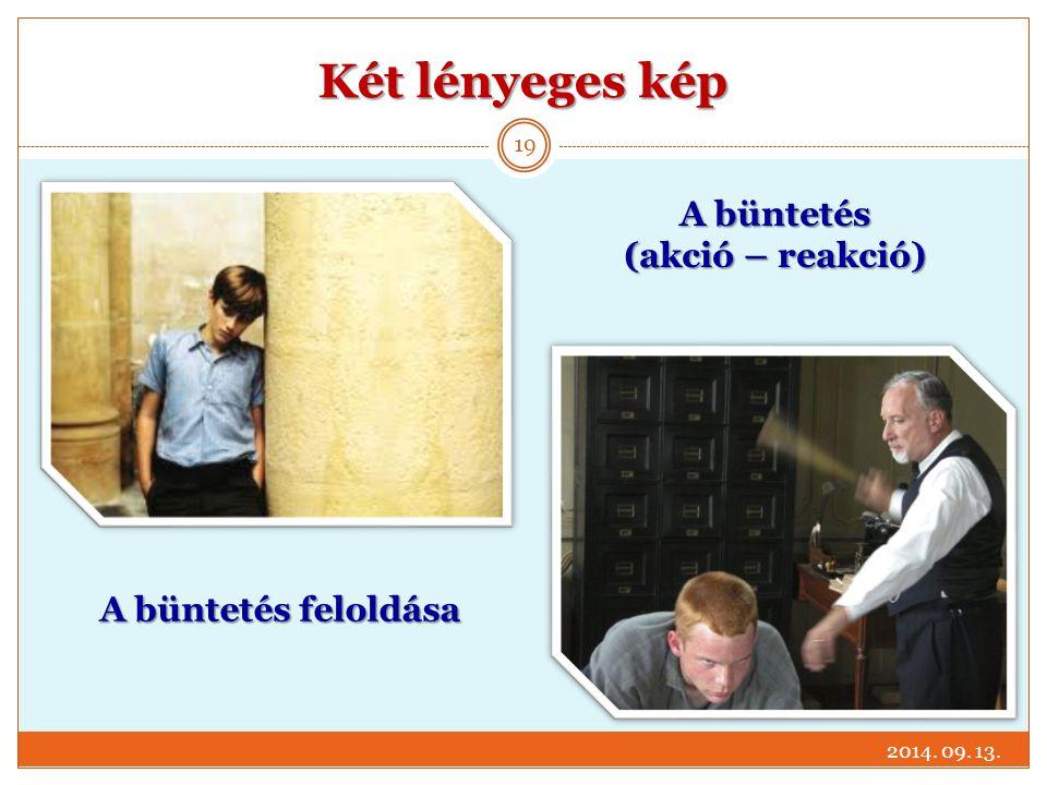 Két lényeges kép 2014. 09. 13. 19 A büntetés (akció – reakció) A büntetés feloldása