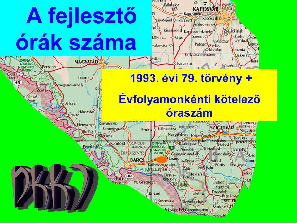 A fejlesztő órák száma 1993. évi 79. törvény + Évfolyamonkénti kötelező óraszám