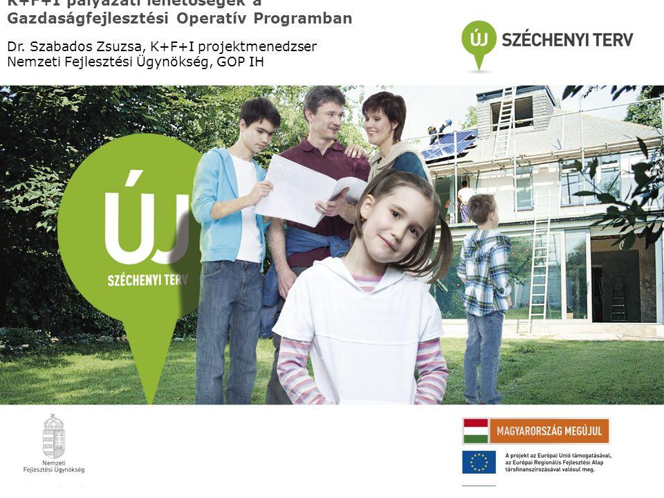 A GOP bemutatása: keretek 1.K+F és innováció a versenyképességért (991 millió euró) 2.