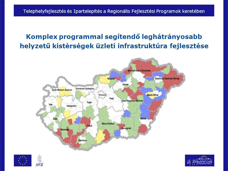 Komplex programmal segítendő leghátrányosabb helyzetű kistérségek üzleti infrastruktúra fejlesztése Telephelyfejlesztés és Ipartelepítés a Regionális Fejlesztési Programok keretében