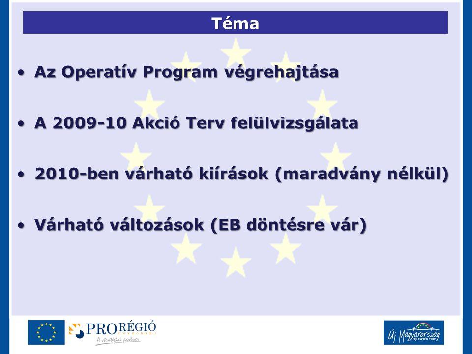 Téma Az Operatív Program végrehajtásaAz Operatív Program végrehajtása A 2009-10 Akció Terv felülvizsgálataA 2009-10 Akció Terv felülvizsgálata 2010-be