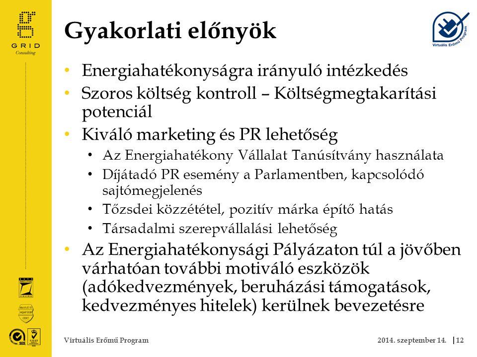 Gyakorlati előnyök 2014.