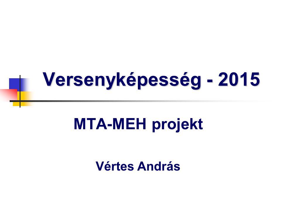 Versenyképesség - 2015 MTA-MEH projekt Vértes András