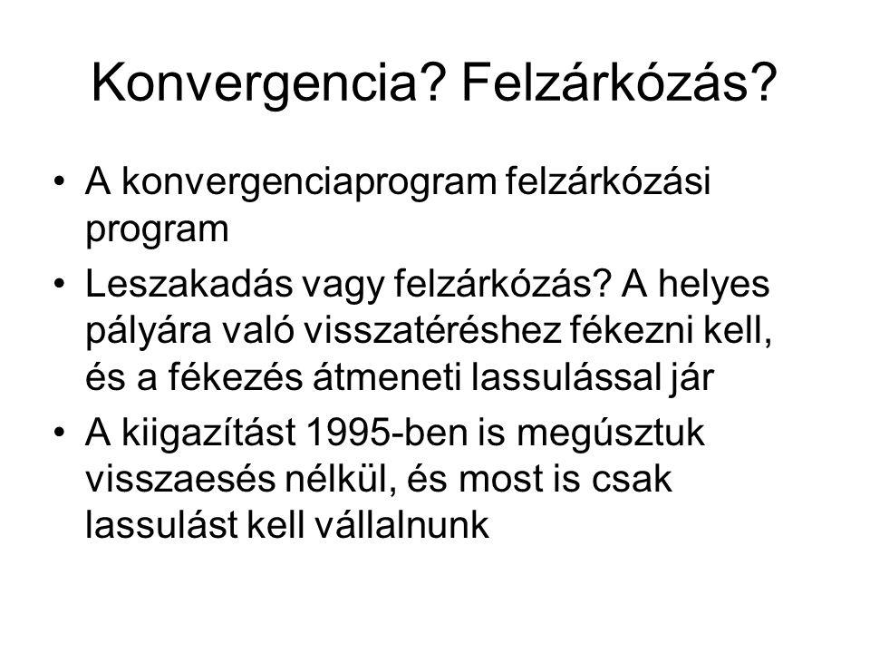 Konvergencia. Felzárkózás. A konvergenciaprogram felzárkózási program Leszakadás vagy felzárkózás.