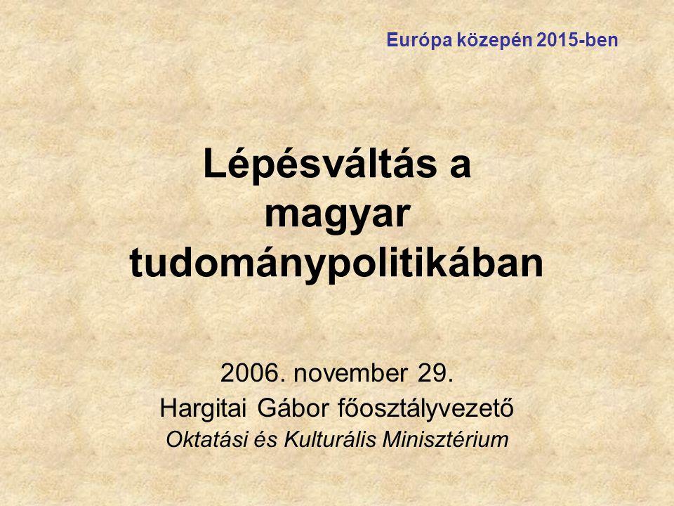 Lépésváltás a magyar tudománypolitikában 2006.november 29.