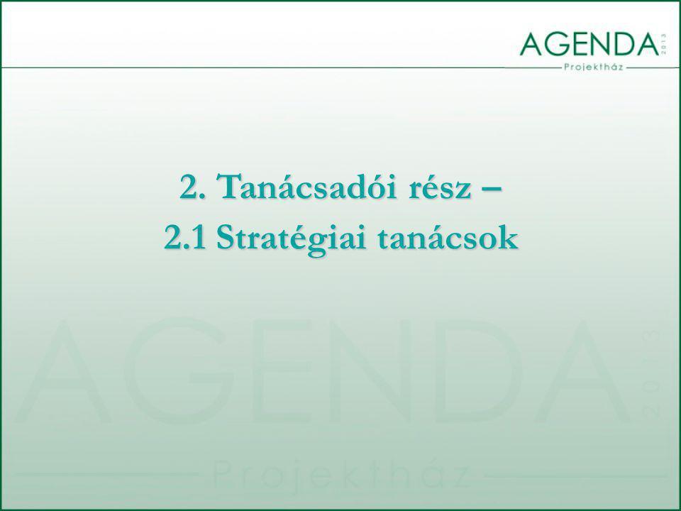 A dokumentum elkészítésének céljai:  Az ellenőrzés rendszerére és elemeire vonatkozó jobbítási taktikai javaslatok megfogalmazása  Az ellenőrzés rendszerére vonatkozó jobbítási javaslatok sztenderdizálása  Az ellenőrzés rendszerének és megállapításainak transzparensségét erősítő javaslatok megfogalmazása 2.1 STRATÉGIAI TANÁCSADÁS