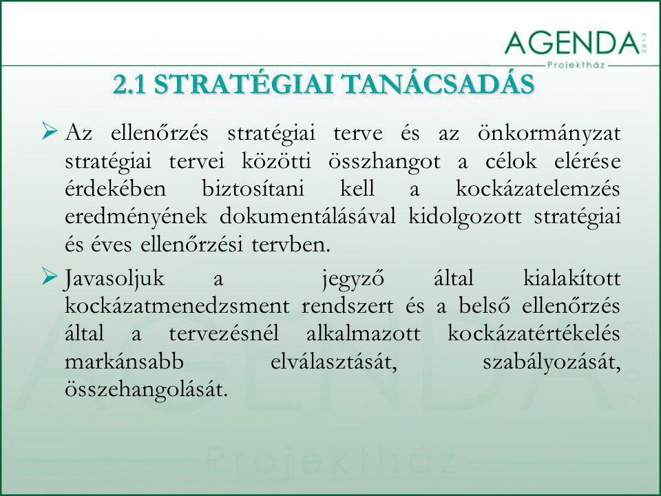  Az ellenőrzés stratégiai terve és az önkormányzat stratégiai tervei közötti összhangot a célok elérése érdekében biztosítani kell a kockázatelemzés eredményének dokumentálásával kidolgozott stratégiai és éves ellenőrzési tervben.