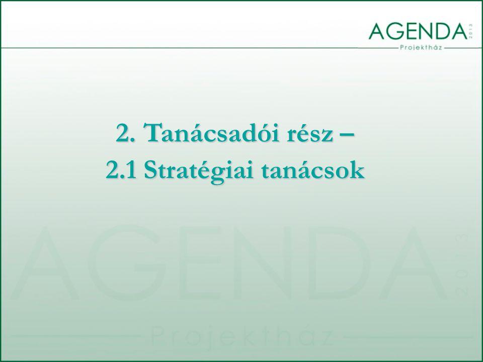 2. Tanácsadói rész – 2.1 Stratégiai tanácsok