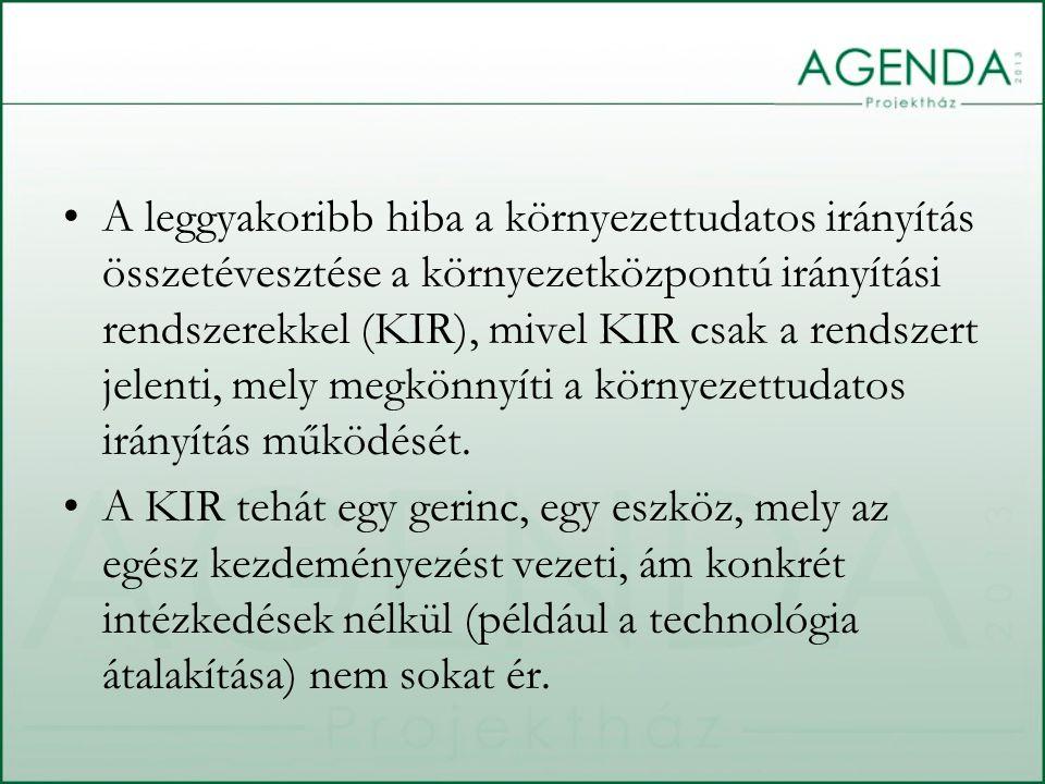 A leggyakoribb hiba a környezettudatos irányítás összetévesztése a környezetközpontú irányítási rendszerekkel (KIR), mivel KIR csak a rendszert jelent