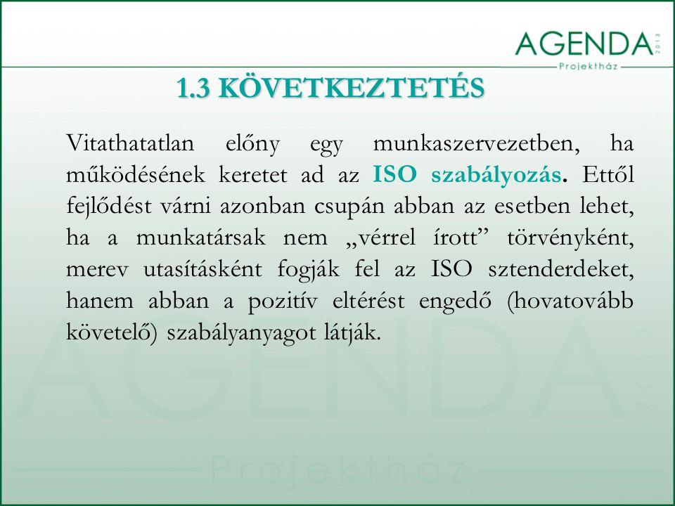 Vitathatatlan előny egy munkaszervezetben, ha működésének keretet ad az ISO szabályozás.