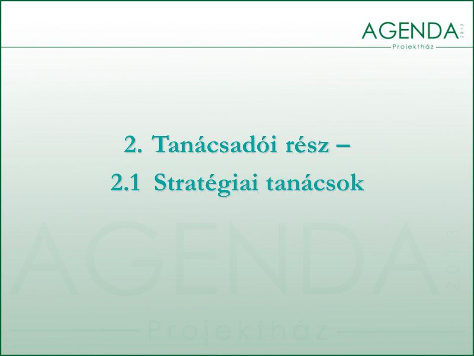 2.Tanácsadói rész – 2.1 Stratégiai tanácsok
