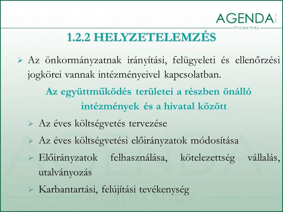  Az önkormányzatnak irányítási, felügyeleti és ellenőrzési jogkörei vannak intézményeivel kapcsolatban.