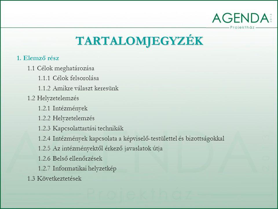 TARTALOMJEGYZÉK 1.