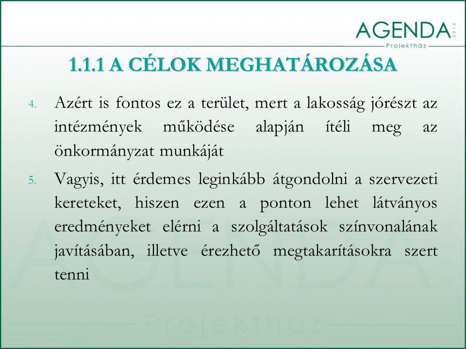 4. Azért is fontos ez a terület, mert a lakosság jórészt az intézmények működése alapján ítéli meg az önkormányzat munkáját 5. Vagyis, itt érdemes leg