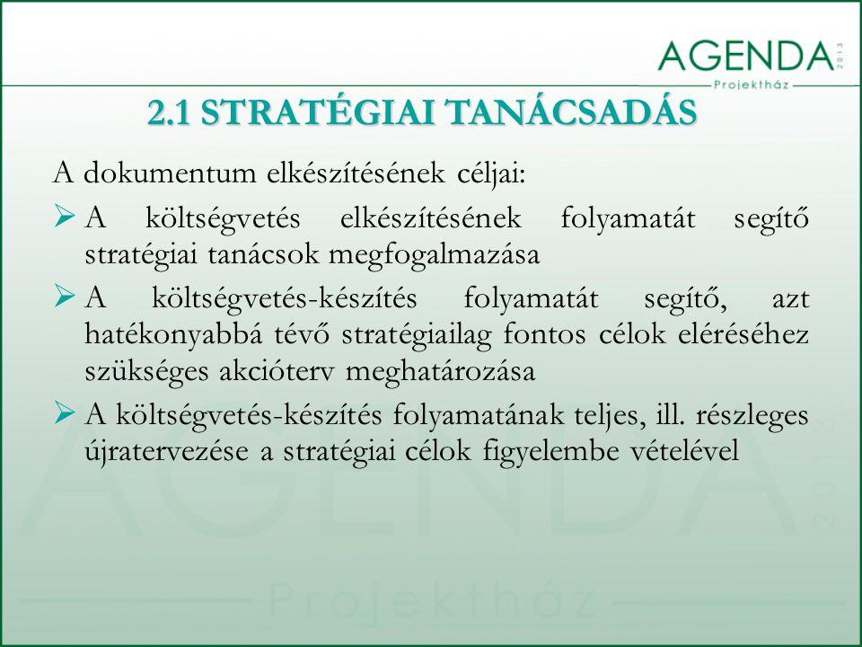 A dokumentum elkészítésének céljai:  A költségvetés elkészítésének folyamatát segítő stratégiai tanácsok megfogalmazása  A költségvetés-készítés folyamatát segítő, azt hatékonyabbá tévő stratégiailag fontos célok eléréséhez szükséges akcióterv meghatározása  A költségvetés-készítés folyamatának teljes, ill.