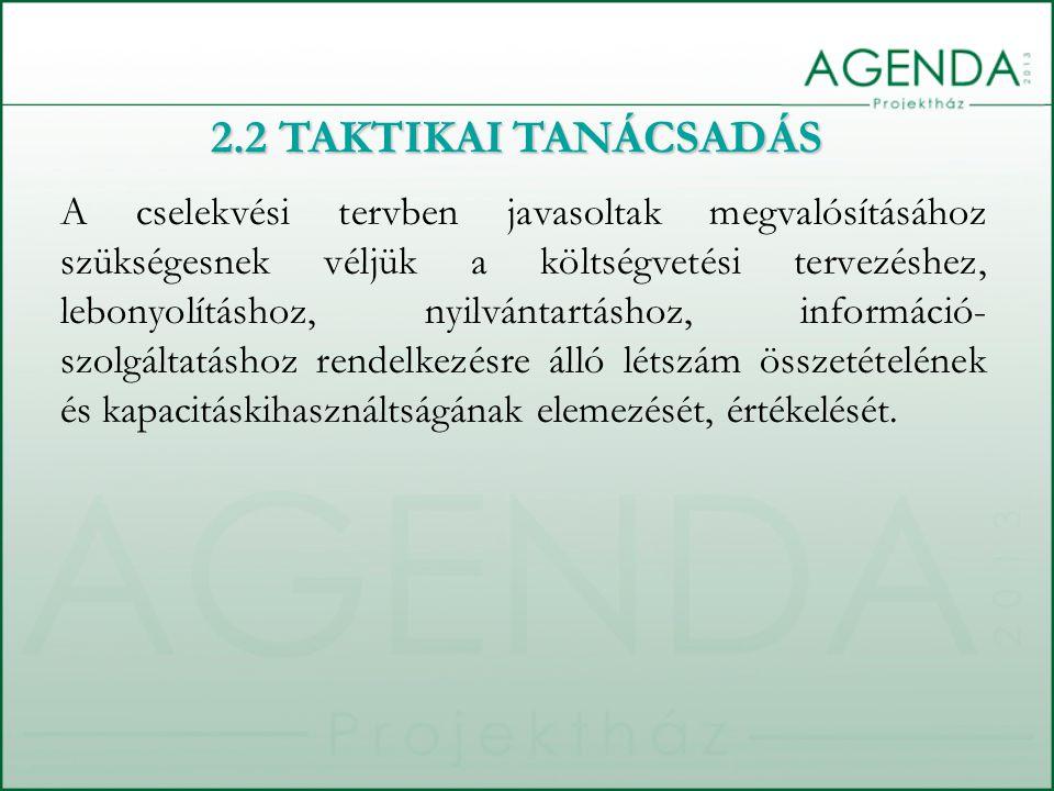 A cselekvési tervben javasoltak megvalósításához szükségesnek véljük a költségvetési tervezéshez, lebonyolításhoz, nyilvántartáshoz, információ- szolg
