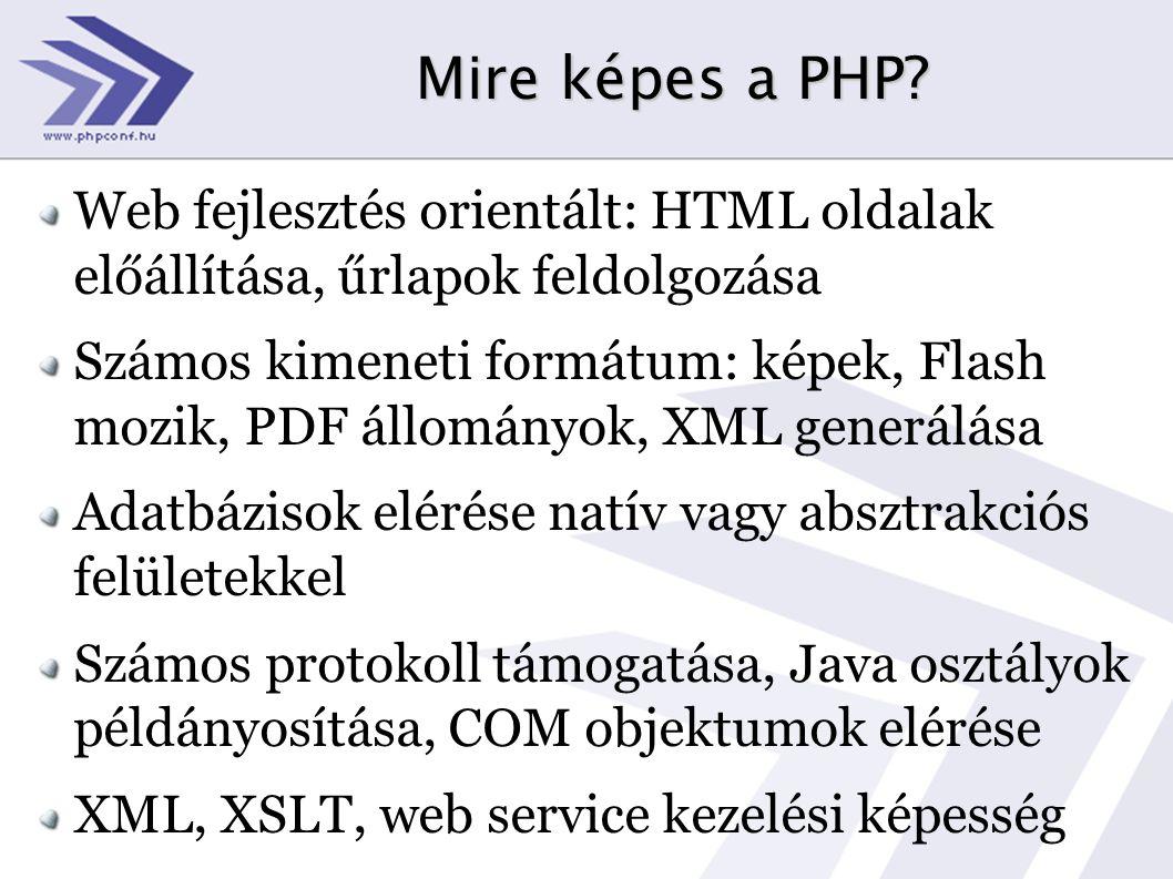 Mire képes a PHP.