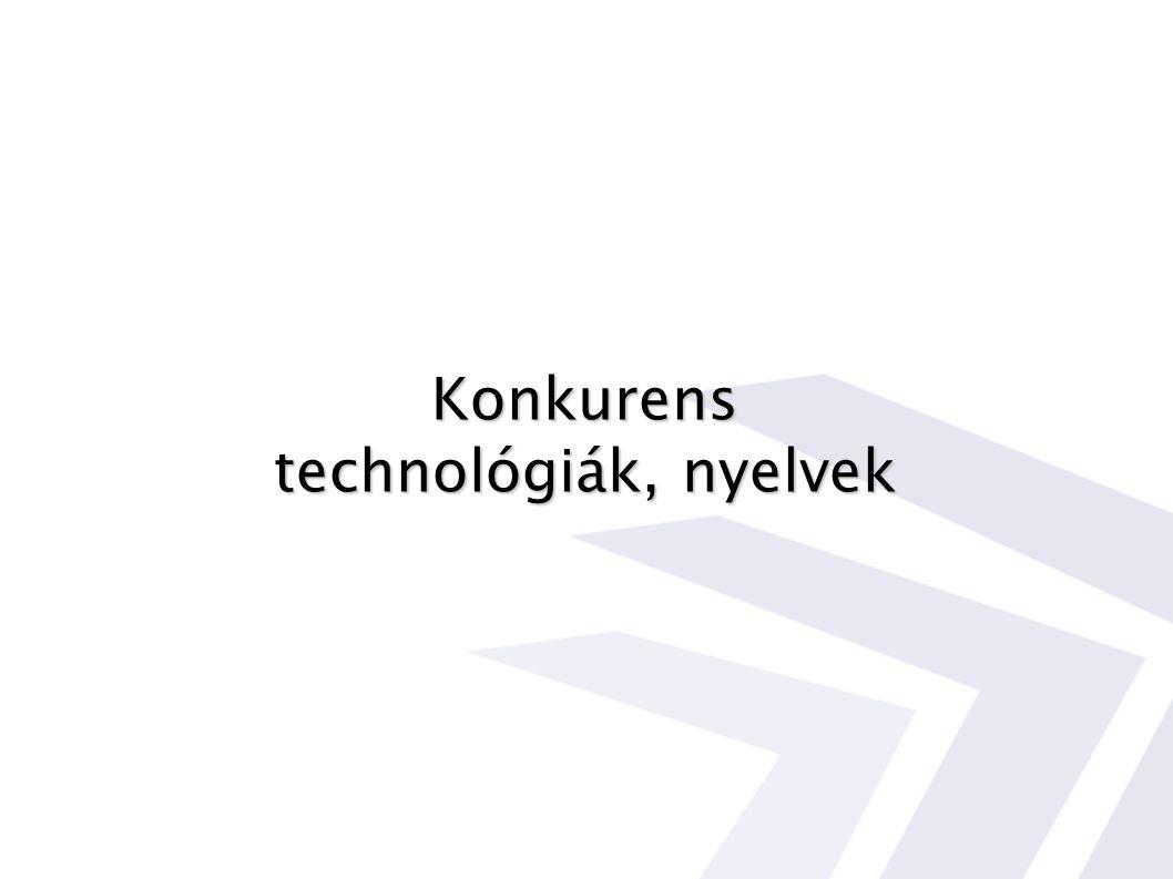 Konkurens technológiák, nyelvek