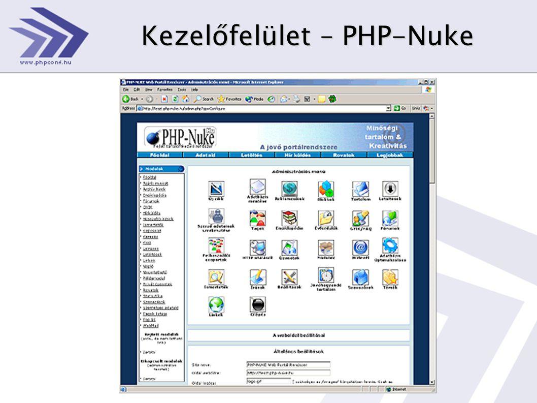 Kezelőfelület – PHP-Nuke