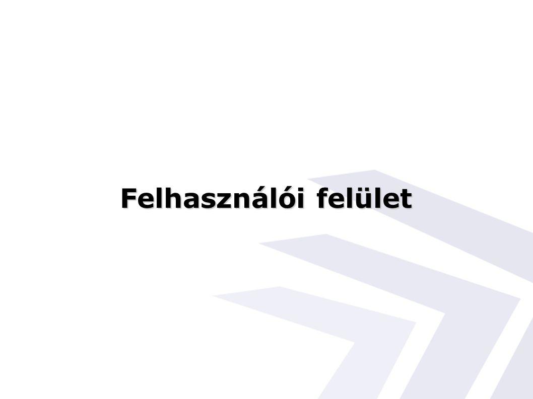 Felhasználói felület