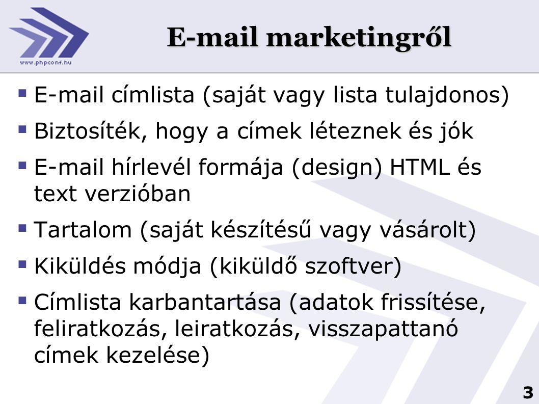 4 E-mail marketingről  Demográfia: nők vagy férfiak.