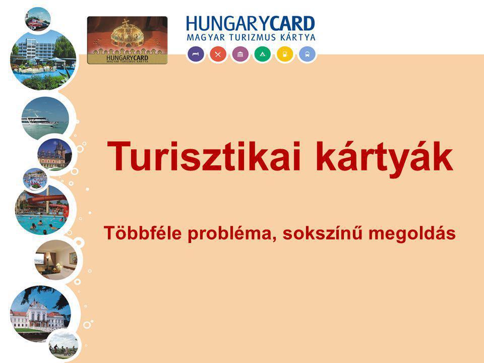 fizetőeszköz: Széchenyi Pihenő Kártya (pl.: OTP SZÉP kártya) marketing eszköz: kedvezményt biztosító kártya (régiós kártyák, városkártyák, pl.: Hungary Card, Budapest Card) Eltérő feladatok: