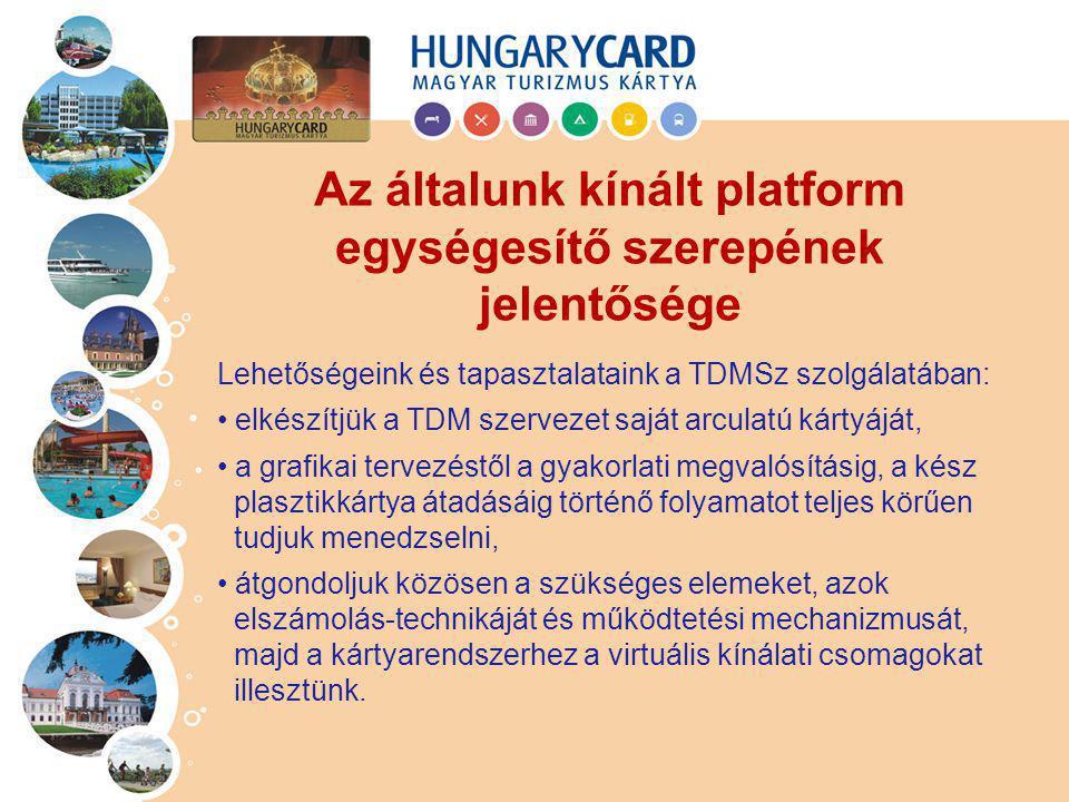 Lehetőségeink és tapasztalataink a TDMSz szolgálatában: elkészítjük a TDM szervezet saját arculatú kártyáját, a grafikai tervezéstől a gyakorlati megv