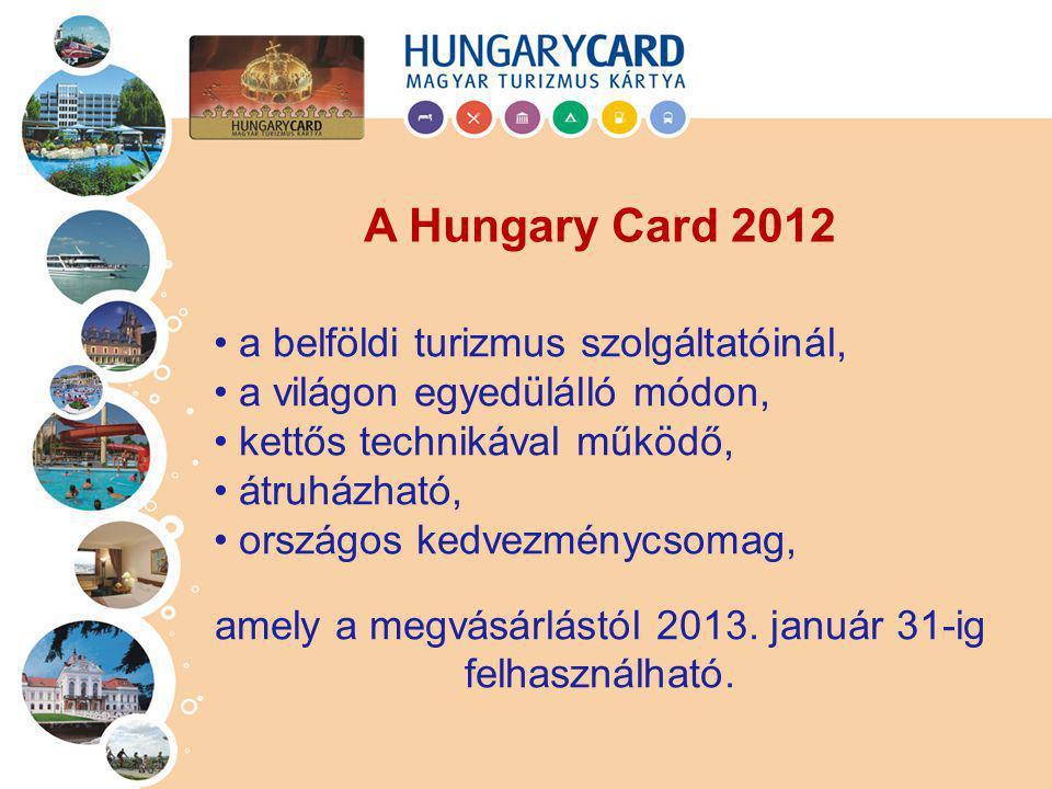 Háromféle szolgáltatási csomaggal kapható: Hungary Card Basic jellemzően felmutatásos kedvezmények Hungary Card Standard megjelennek a nagyértékű megtakarítási lehetőségek, pl.
