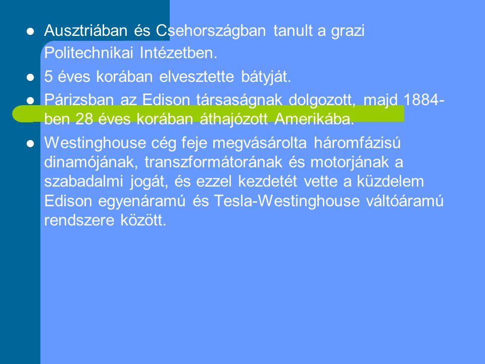 Ausztriában és Csehországban tanult a grazi Politechnikai Intézetben.