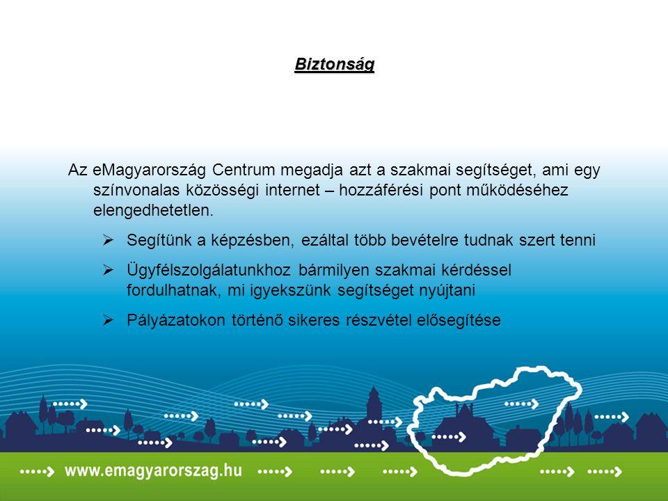 Státusz Az eMagyarország Centrum eddigi teljesítménye presztizst jelent és státuszt kölcsönöz az eMagyarország Pontoknak.