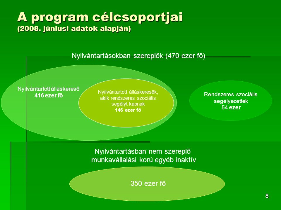 8 A program célcsoportjai (2008.