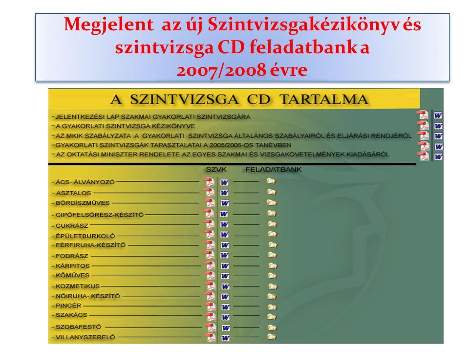 Megjelent az új Szintvizsgakézikönyv és szintvizsga CD feladatbank a 2007/2008 évre