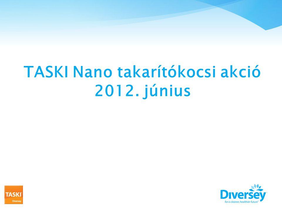 TASKI Nano takarítókocsi akció 2012. június
