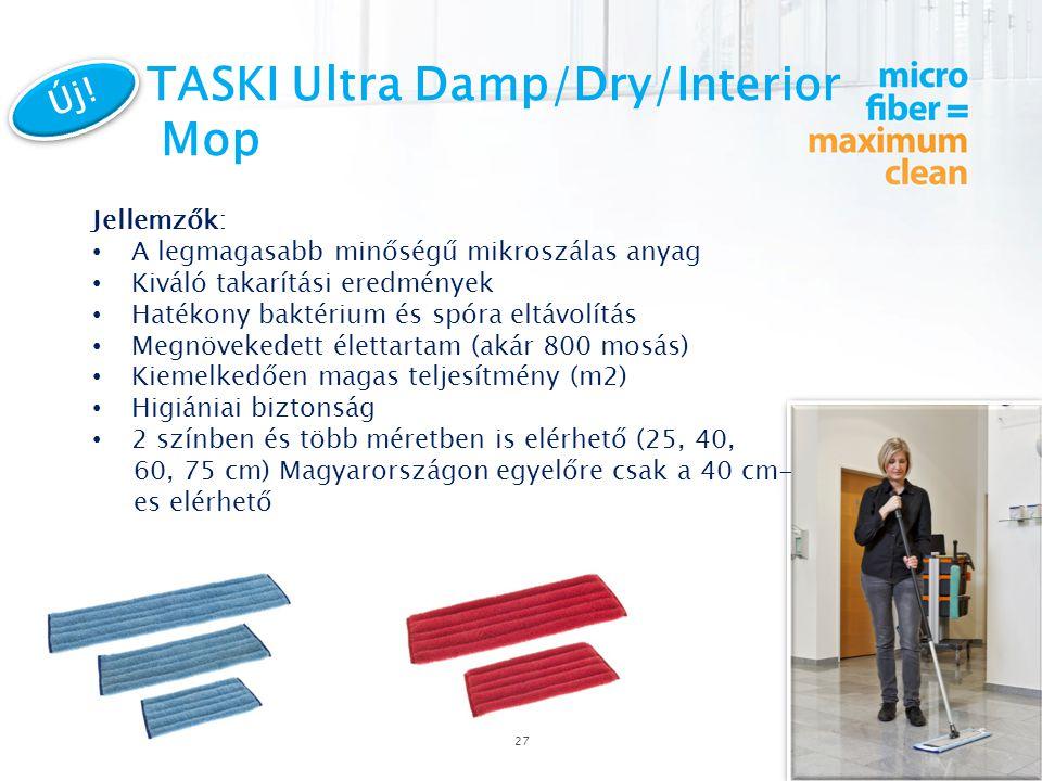 TASKI Ultra Damp/Dry/Interior Mop 27 Új.