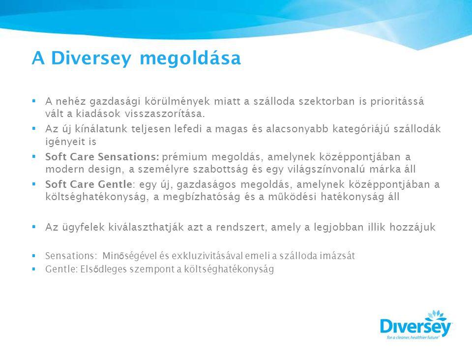 A Diversey megoldása  A nehéz gazdasági körülmények miatt a szálloda szektorban is prioritássá vált a kiadások visszaszorítása.