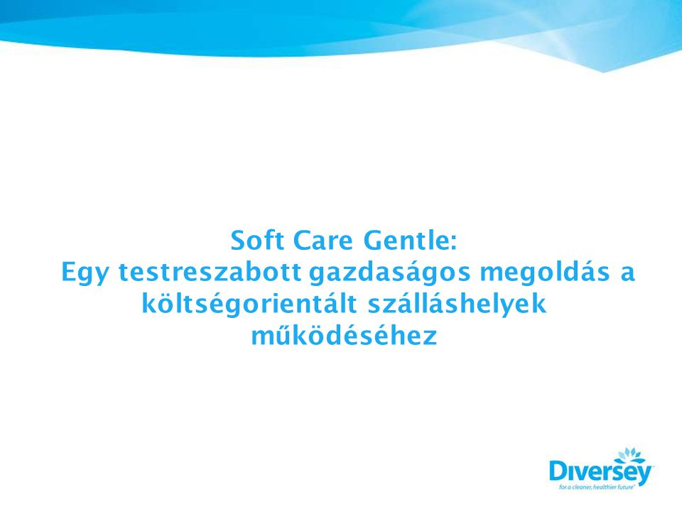 Soft Care Gentle: Egy testreszabott gazdaságos megoldás a költségorientált szálláshelyek m ű ködéséhez