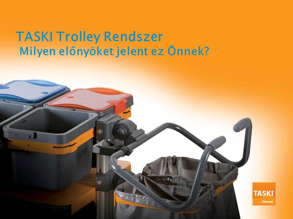 TASKI Trolley Rendszer Milyen előnyöket jelent ez Önnek?