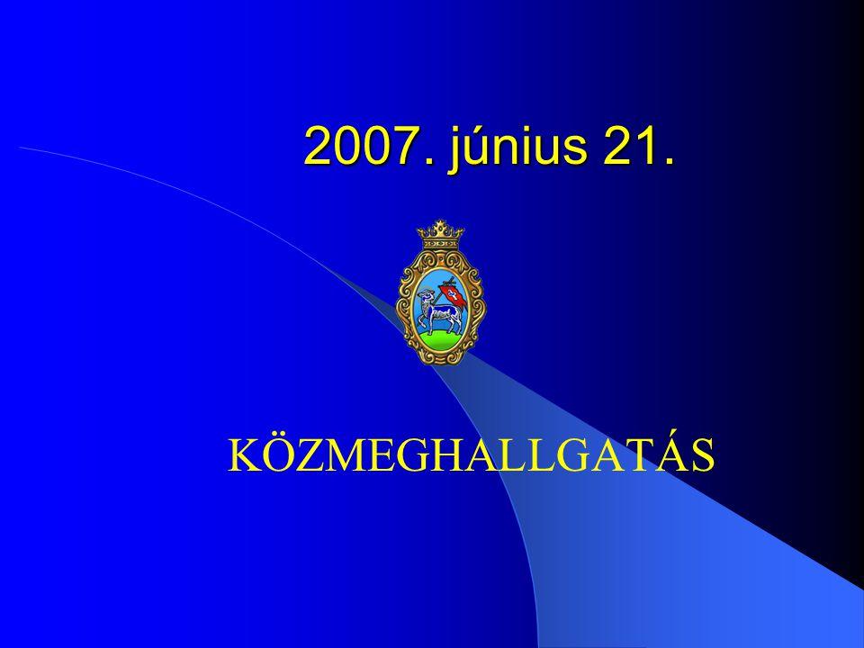2007. június 21. KÖZMEGHALLGATÁS