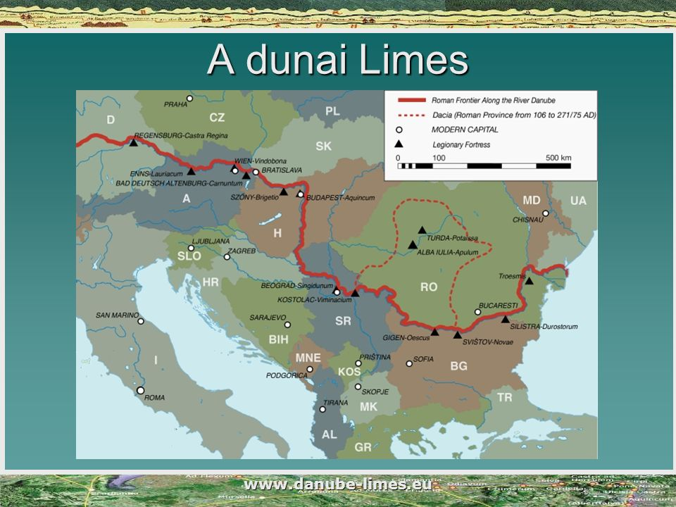 www.danube-limes.eu A dunai Limes