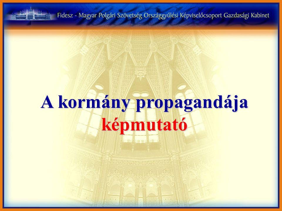 A kormány propagandája képmutató