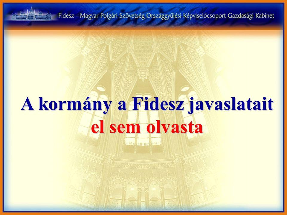 A kormány a Fidesz javaslatait el sem olvasta