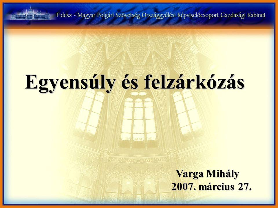 Varga Mihály 2007. március 27. 2007. március 27. Egyensúly és felzárkózás