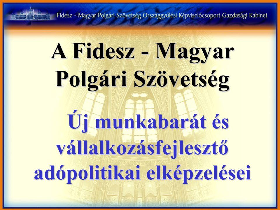 A Fidesz - Magyar Polgári Szövetség Új munkabarát és vállalkozásfejlesztő adópolitikai elképzelései Új munkabarát és vállalkozásfejlesztő adópolitikai elképzelései